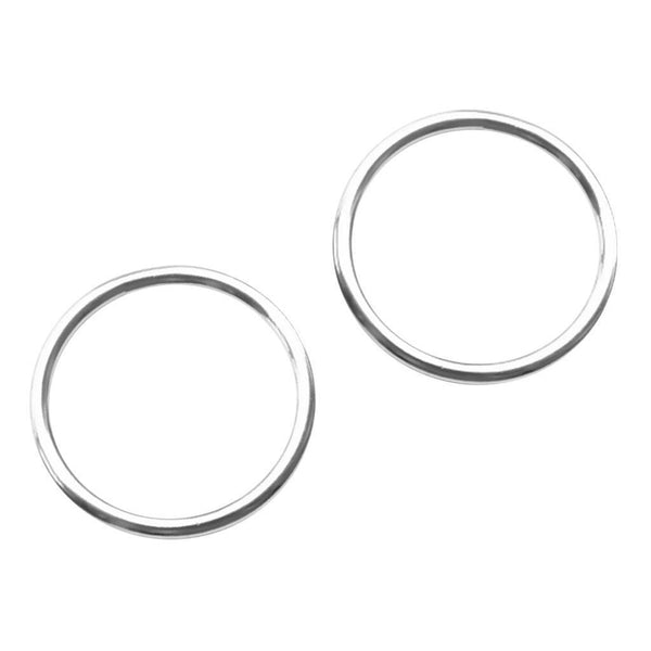 "MagiDeal 2pcs 0.16"" x 2"" Welded 316 Stainless Steel O-ring Round Ring Boat"