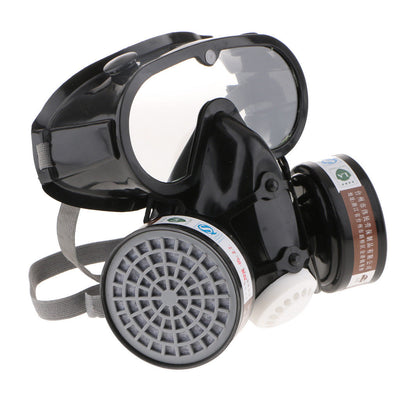 Painting Dust Mask Respirator Dual Filter Full Face Mask with Safety Glasses