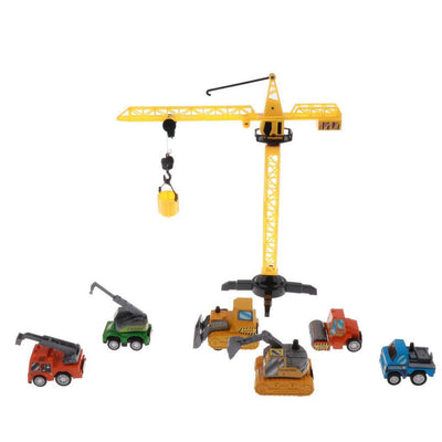 Kids Construction Engineering Vehicles Pull Back Playset for Party Favors