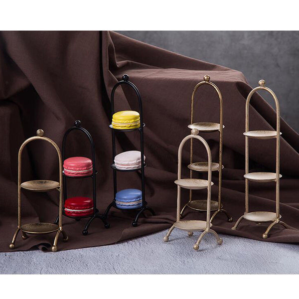 3 Layer Dessert Metal Tray Wedding Stand Cupcake Tray Display Rack Golden