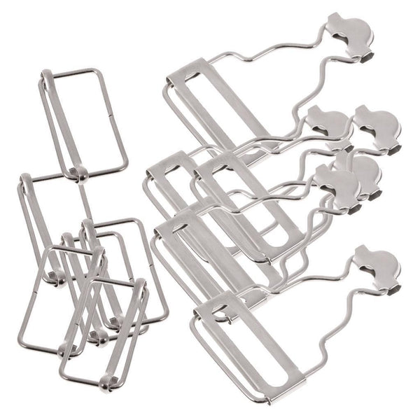 Set of 6 Sliver Dungaree Fasteners Overall Clips Brace Buckles Adjuster 27mm