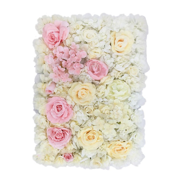 Romantic Artificial Flower Wall Panels Wedding Venue Roses Floral Decor B #3