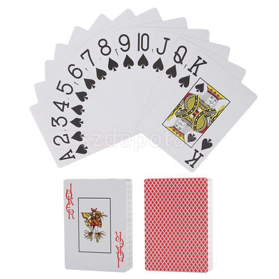 Playing Card Lovers Gift Jumbo Index Texas Poker Size Plastic Red Poker Deck