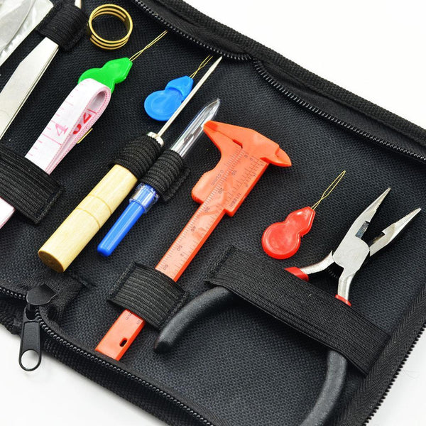 12Pc Jewelry Making Supplies Repair Kit with Jewelry Pliers Beading Crafting