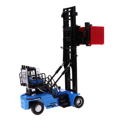 MagiDeal Collectible 1/50th Empty Container Stacker Forklift Truck Blue Kids