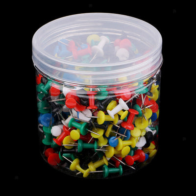 400Pcs Multi-color Push Pins for Map, Corkboard, Bulletin Board