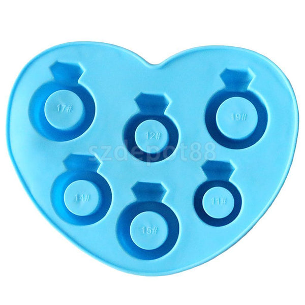 Silicone Diamond Ring Shaped Party Ice Cube Trays Mould Jelly Candy Mold DIY
