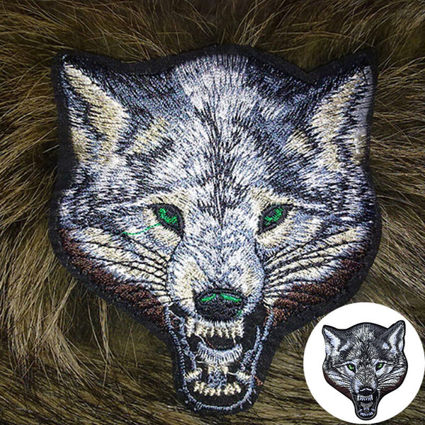 Unique Animal Wolf Head Iron on Patches Sew-on Embroidered Patch  Applique 5RZ