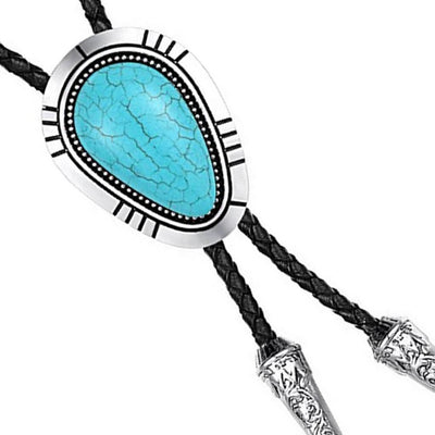Western Bolo Tie Leather Necktie Cowboy Handmade Novelty Men Work Party Gift