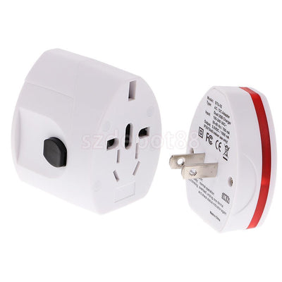 Universal Power USB Adapter Electric Converter US/AU/UK/EU Travel Plug White