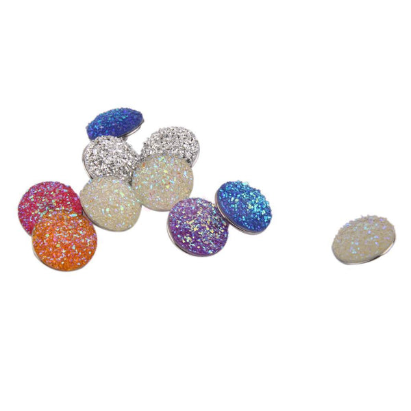 10pcs Mixed Glitter Snap Buttons Fit DIY Noosa Bracelet Necklace 18mm New