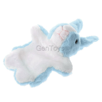 Collectible Plush Bunny Design Hand Puppet for Preschool Learning Aid Blue