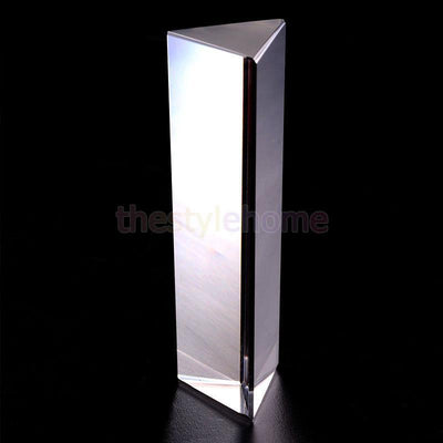 Physics Teaching Precision Science Optical Glass Triangular Prism 6 inch