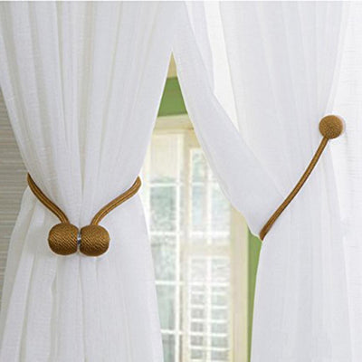 4x Magnetic Curtain Tieback Tie Back Holdback Curtain Buckle Bronze -30cm