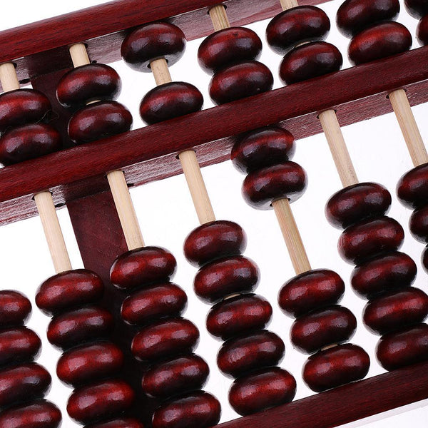 Classic Chinese Wooden Bead Arithmetic Abacus 15 Rods Calculating Tool Gift