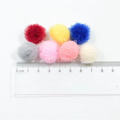 50pcs Baby Kid Children Hair Accessories Bows Clips Slides DIY Chiffon Yarn