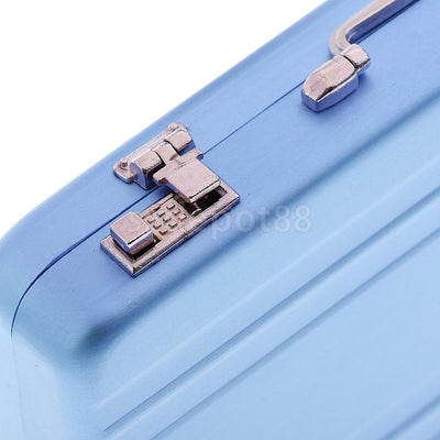 Alloy ID Credit Card Holder Box Suitcase Business Name Card Suitcase - Blue