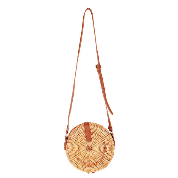 MagiDeal Hot Sale Rattan Fabric Handbags Bag Straw Bag Tile Embellish Buckle