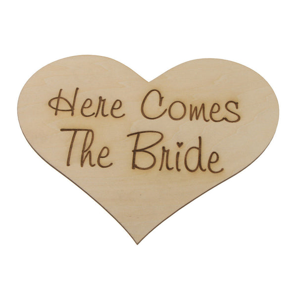 Here Comes Your Bride Wedding Page boy Flower girl Wooden Sign Photo Props