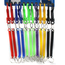 Lot 12x Mixed Keyring Spiral Key Chain Stretchable String Key Clip Holder