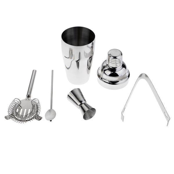 5Pcs Premium Stainless Steel Cocktail Mixing Set Bartender Bar Mixing Tools