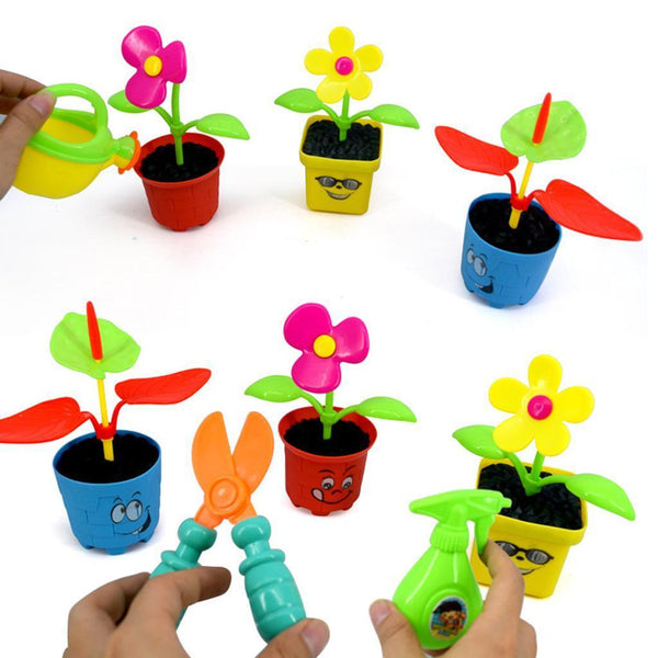 Set of Gardening Planting Flower Tools Accs Kids Garden Role Play Games Gift