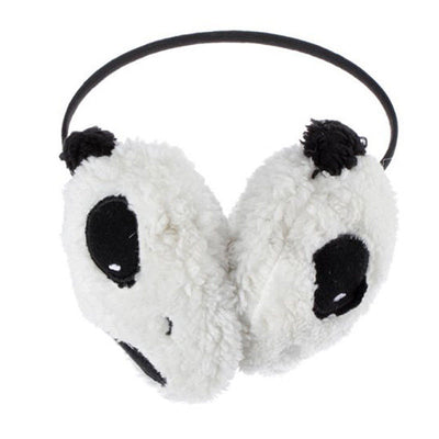 Large Fluffy Fur Plush Panda Earmuffs Winter Ear Warmer Ladies Women Girls  O2LQ