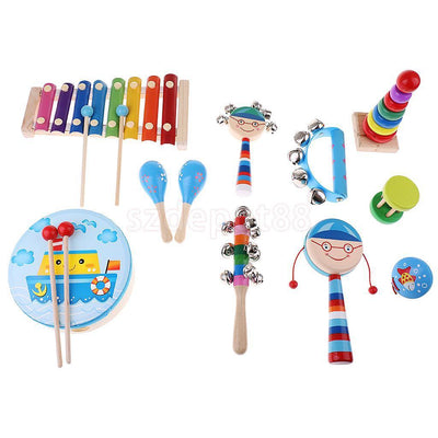 Orff Musical Instruments Wooden Toys for Kids Babies Education Developing #4