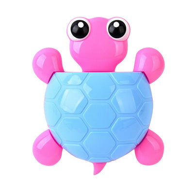 Lovely Tortoise Toothbrush Toothpaste Holder Kids/Family Suction Blue+Yellow