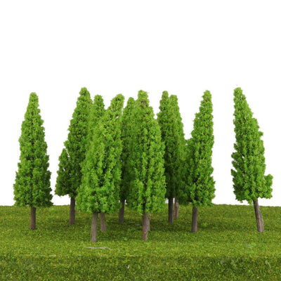 10x Light Green Models Tree RR Garden Railroad Scenery for Warhammer 6.69''