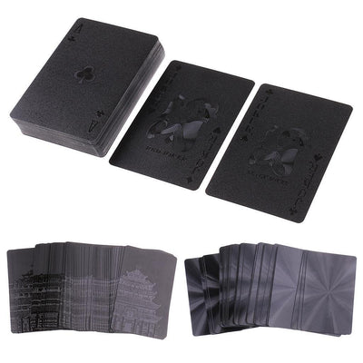 Black Waterproof Playing Cards Deck Magic Card Plastic Poker Cards Set #1