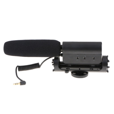 Photography Interview Mic Stereo Microphone for Video DV Camcorder / DSLR