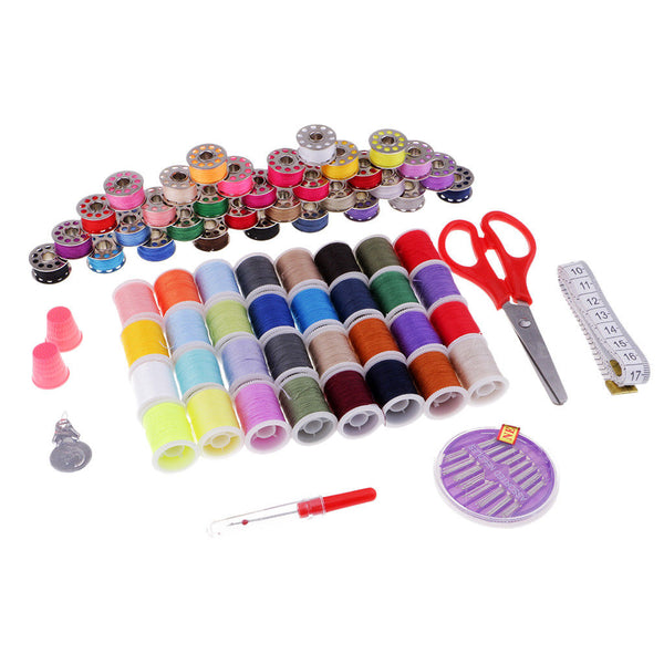100pcs Sewing Kit Sewing Supplies with Scissors Thimble Sewing Thread Needle
