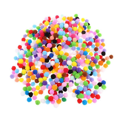 600x Mixed Felt Balls Pompom Ball for DIY Craft Sewing Decoration 15mm 25mm