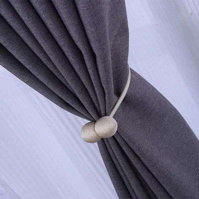 4x Magnetic Curtain Tieback Tie Back Holdback Curtain Buckle Gray -30cm