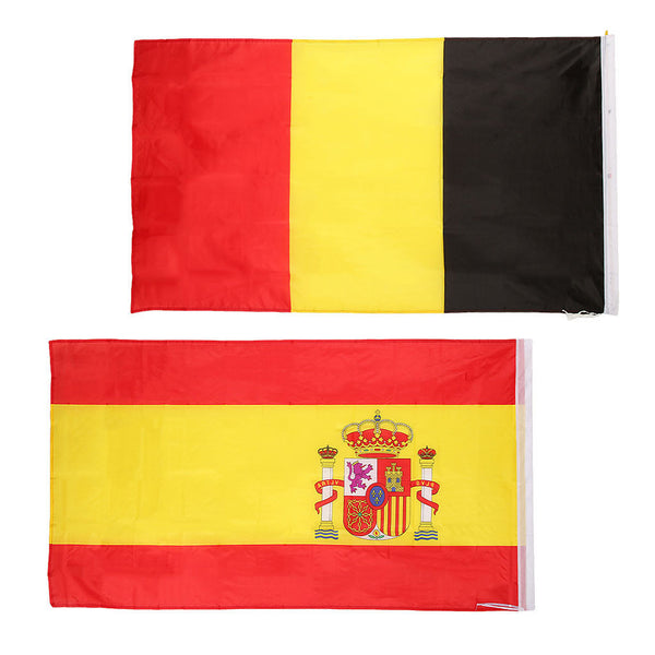Nations Countries National Flags Fans Supporters 5FT x 3FT Belgium & Spain