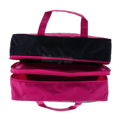 Wet Dry Swimming Diaper Bag Gym Cosmetic Makeup Beach Travel Tote Bag Red