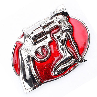 Western Popular Fierce Occasion Sexy Beauty Pattern Red Unisex Belt Buckle