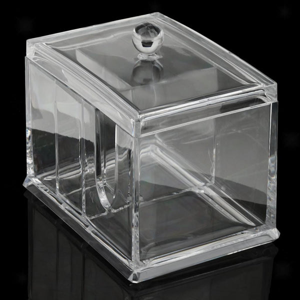 Acrylic Makeup Cotton Pads Box Cosmetic Organizer Holder Storage Container