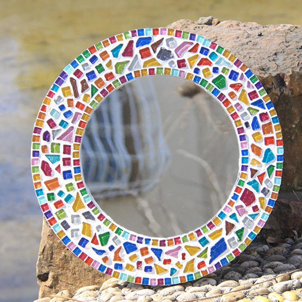 500x Multicolor Square Vitreous Glass Mosaic Tiles Tessera DIY Craft 10x10mm