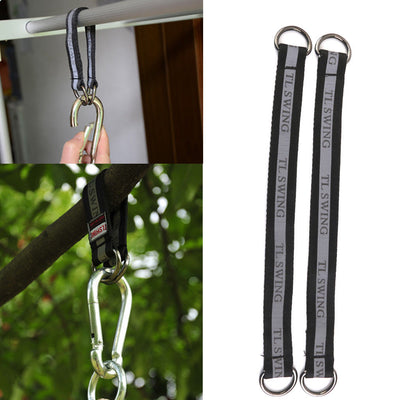 4x Heavy Duty Hanging Belts Straps for Bar Tree Beam Swing Ladders Hook 34cm
