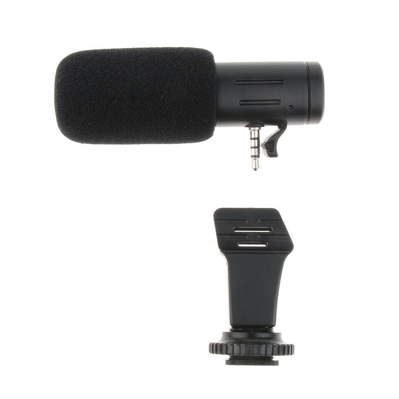 MIC-06 Mini Stereo 3.5mm Mic Microphone for Canon Nikon DSLR Cameras Phones