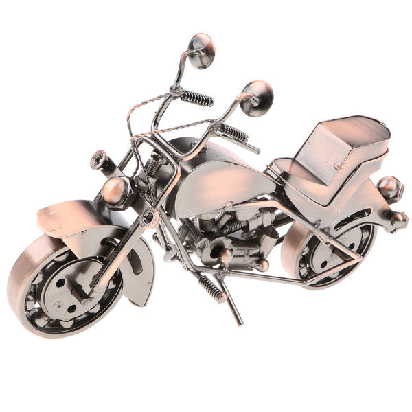 Old-fashioned Bronze Metal Motorcycle Art Crafts Gift Home Décoration -C05