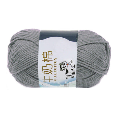 1 group Milk Cotton wool Yarn For Hand knitting Soft(Dark gray)Line rough a D4T7