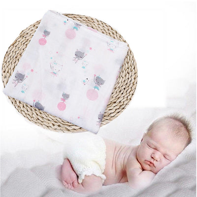 2 pcs Newborn Baby Swaddle Cotton Blanket Boy Girl Coming Home Bath Towel