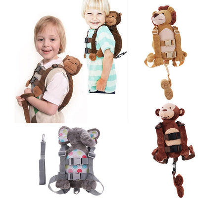 Baby Kids Monkey Backpack Anti-lost Toddler Walking Safety Harness Strap