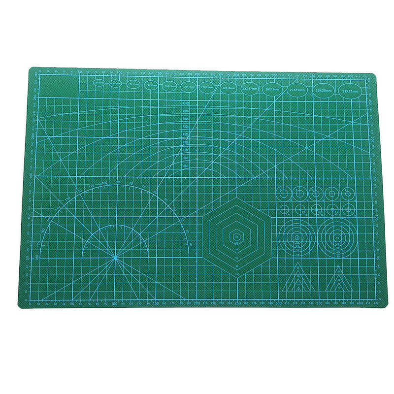 Black Core A3 PVC Cutting Mat for Scrapbooking Non Slip Craft 45 x 30cm