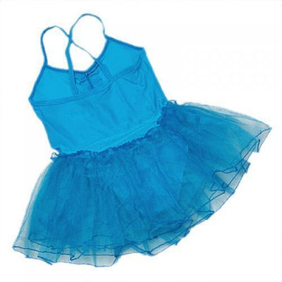 Blue Girl's Fairy Ballet Party Dance Tutu Leotard Dress Costume for 4-5T