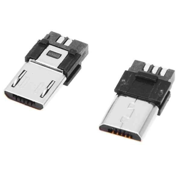 10 Pcs Micro USB Type A Male 5 Pin Connectors Plug R1X5 Y3Y6 J1H5