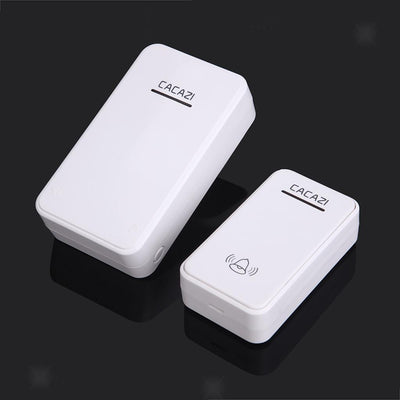 Wireless Battery Operated Doorbell Door Chime 1 Transmitter & 1 Receiver WHT